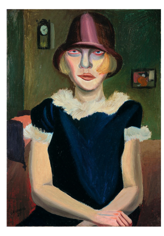 "Hans Grundig, ""Girl with Pink Hat"""